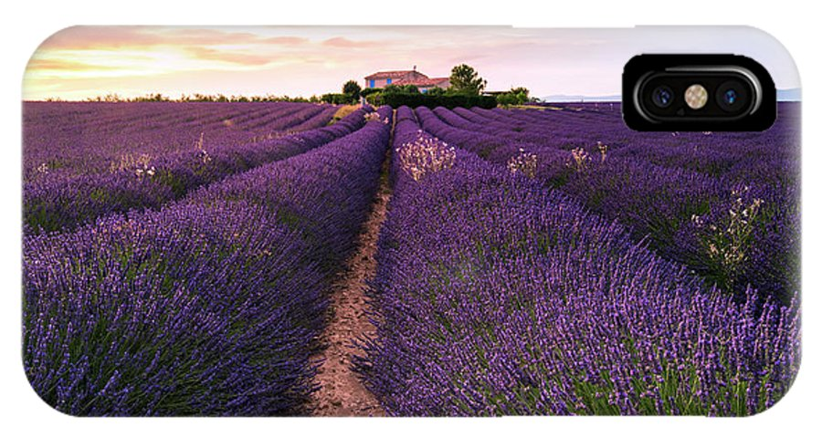 Lavender IPhone X Case featuring the photograph Summer At Valensole by Richard Susanto