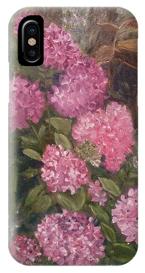 Landscape IPhone X / XS Case featuring the painting Summer Beauties by Calliope Thomas