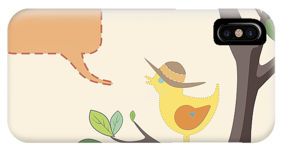 Hat IPhone X Case featuring the photograph Summer Bird by Tim Hester