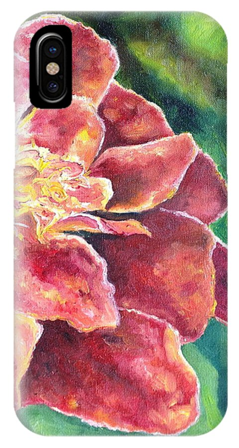 Floral IPhone X Case featuring the painting Summer by Christy Collins