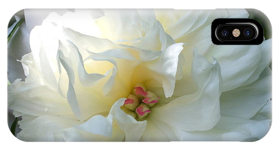 Flower IPhone X Case featuring the digital art Summer Flower by Maxine Bochnia
