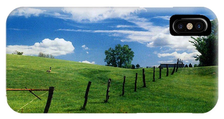 Summer Landscape IPhone X Case featuring the photograph Summer Landscape by Steve Karol