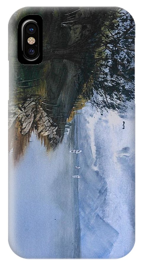 Seascape IPhone X / XS Case featuring the painting Summer On The Lake by Van Harrald