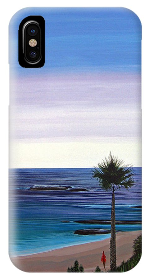 Malibu Beach IPhone X Case featuring the painting Summer Samba by Hunter Jay