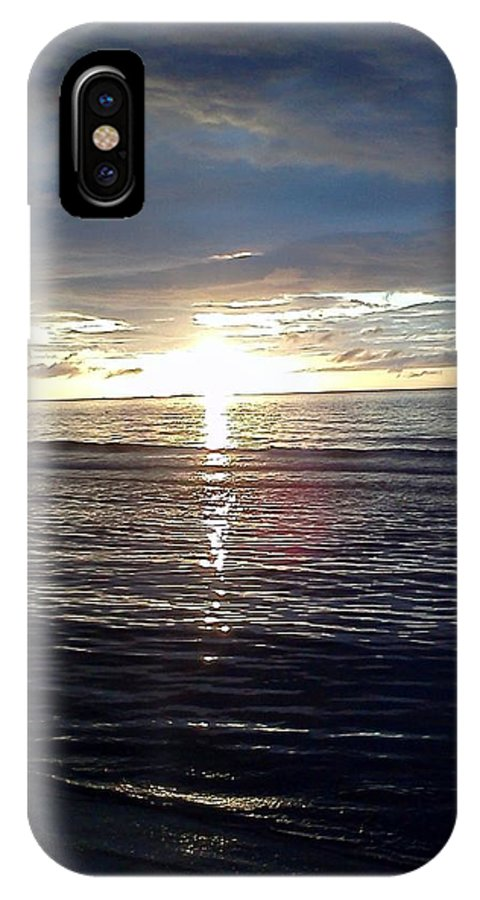 Solstice IPhone X Case featuring the photograph Summer Solstice Sunset by Tara Potts