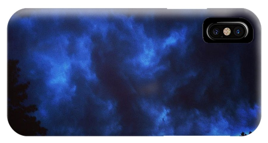 Storm IPhone X / XS Case featuring the photograph Summer Storm by Skylar Fordahl