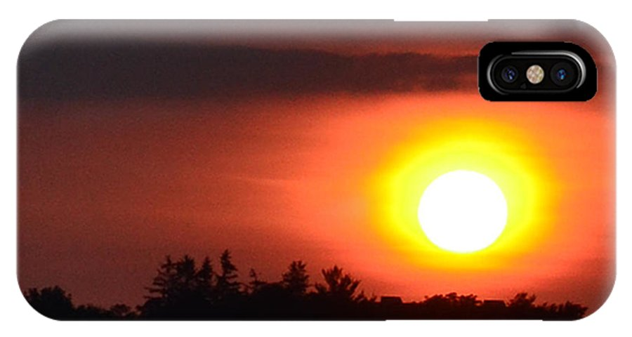 Abstract IPhone X Case featuring the photograph Summer Sunset 4 Wc by Lyle Crump