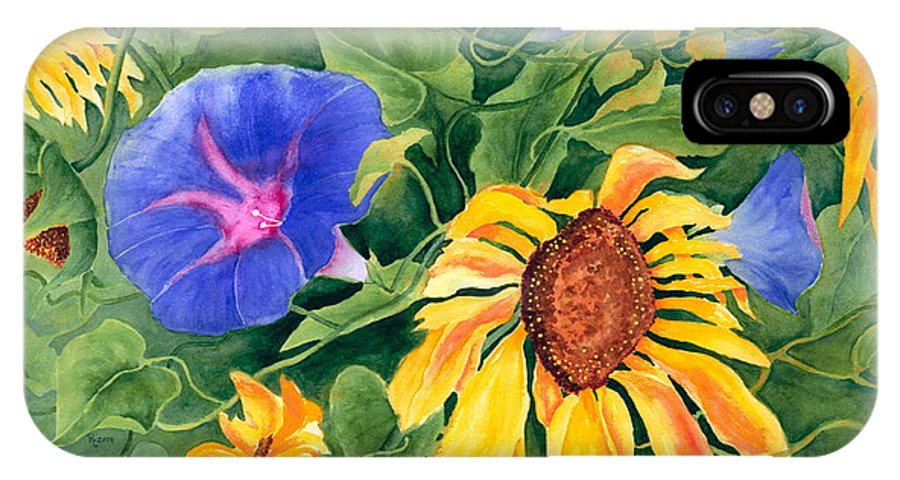 Sunflower IPhone X Case featuring the painting Summer Tango by Rhonda Leonard