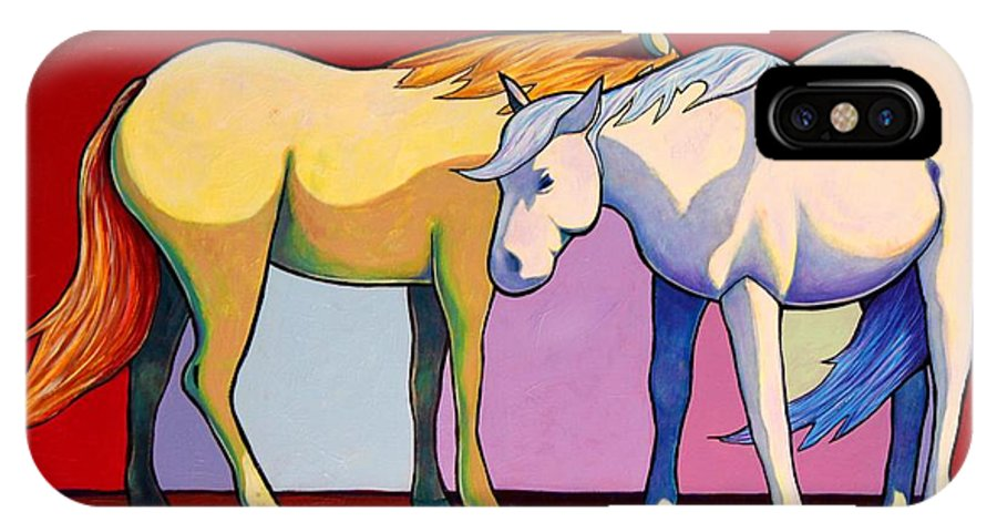 Wildlife IPhone Case featuring the painting Summer Winds - Mustangs by Joe Triano
