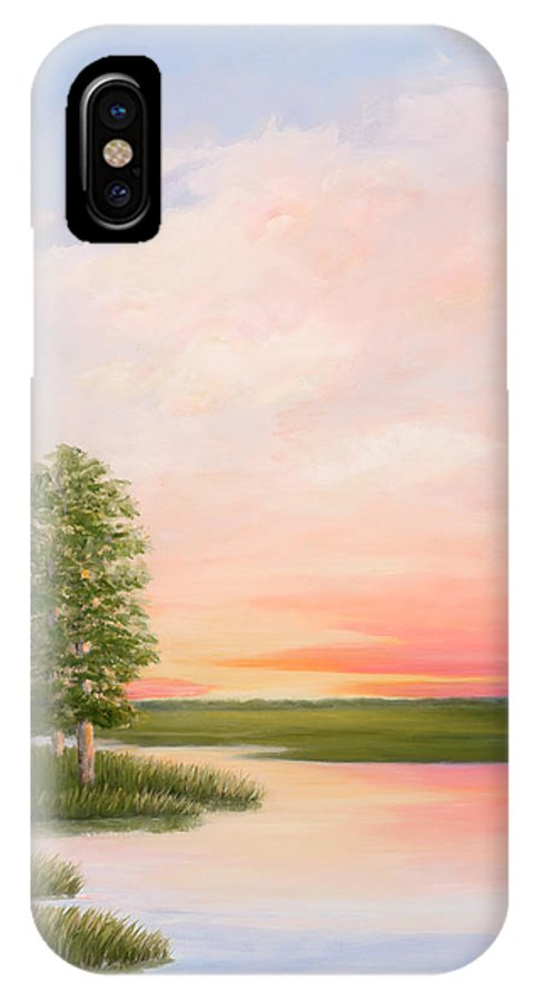 Coastal S C View IPhone X Case featuring the painting Summers Best Day by Audrey McLeod
