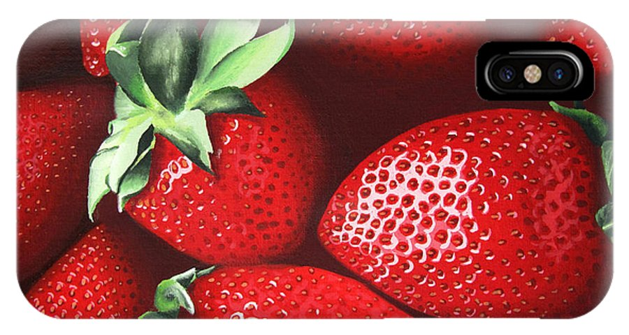 Summer IPhone X Case featuring the painting Summer's Bounty by Kayleigh Semeniuk