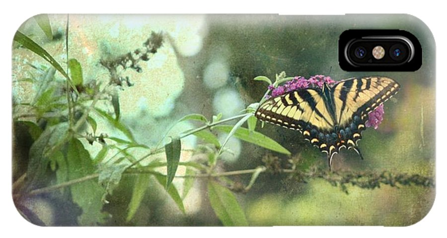Butterfly IPhone X Case featuring the photograph Summer's End by Deborah Baker