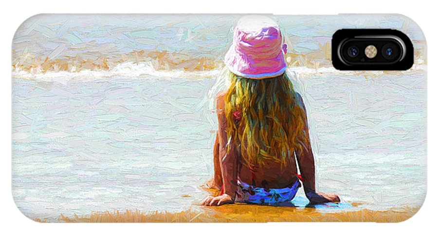Little Girl On Beach IPhone X Case featuring the photograph Summertime by Sheila Smart Fine Art Photography