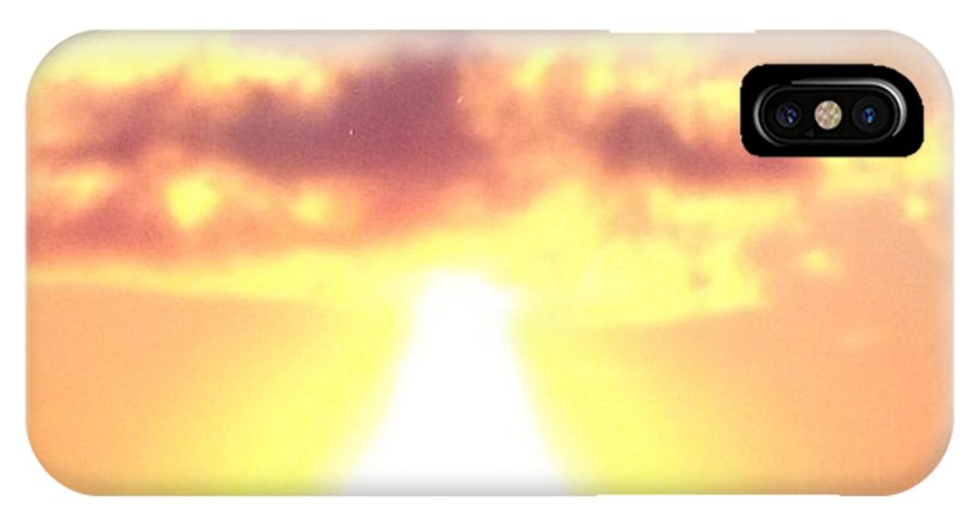 Real Photo IPhone X Case featuring the photograph Sun Fireball In The Sky by Gail Matthews