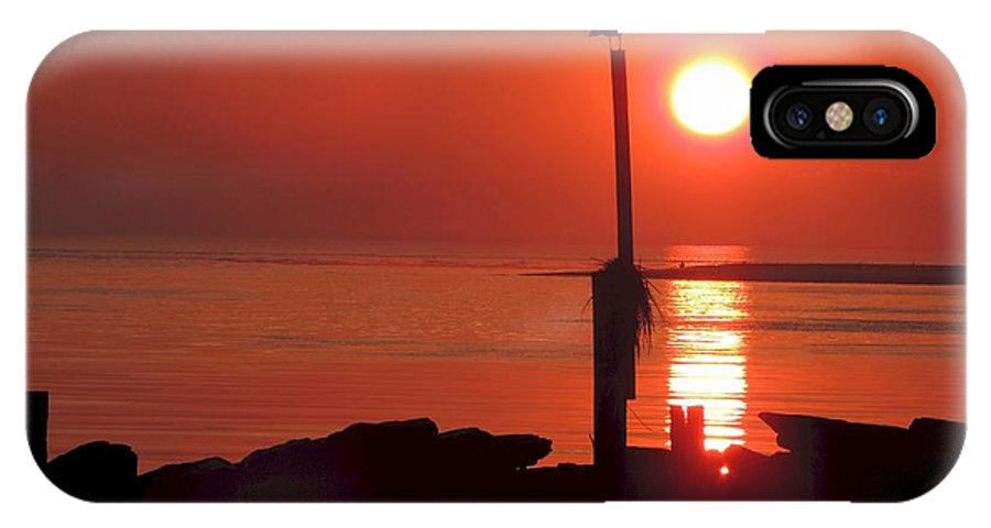 Sun. Sunset IPhone X Case featuring the photograph Sun Gull by Laurence Van Oliver