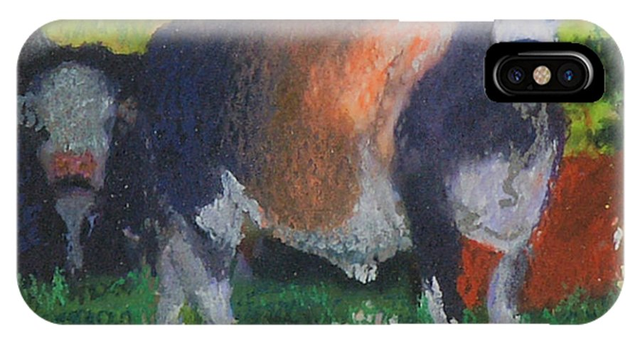 Taurus IPhone X Case featuring the painting Sun In Taurus by Patricia Collins-Perkey