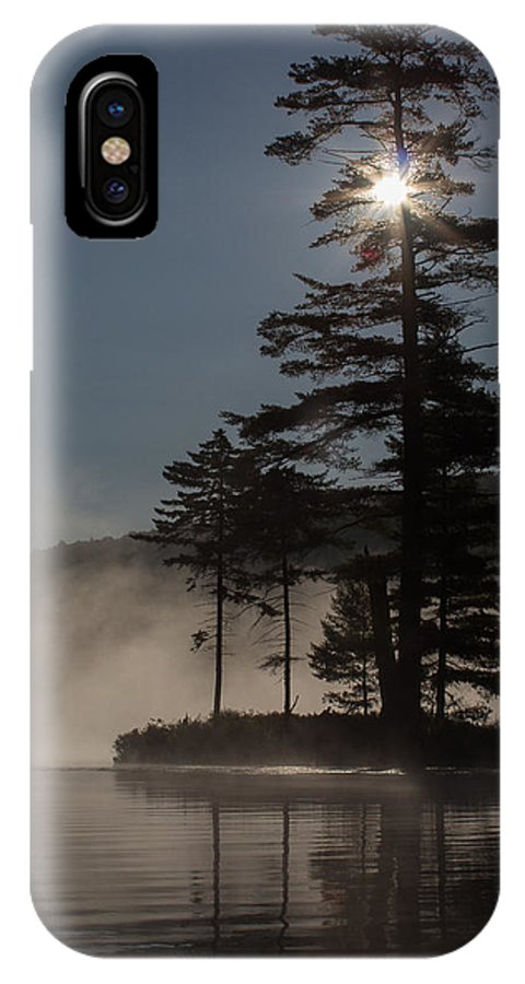 Sun IPhone X Case featuring the photograph Sun Is Up At The Lake by Vance Bell