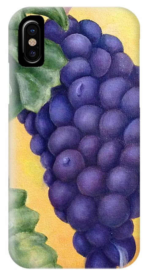 Grapes IPhone X Case featuring the painting Sun Kissed by Susan L Sistrunk