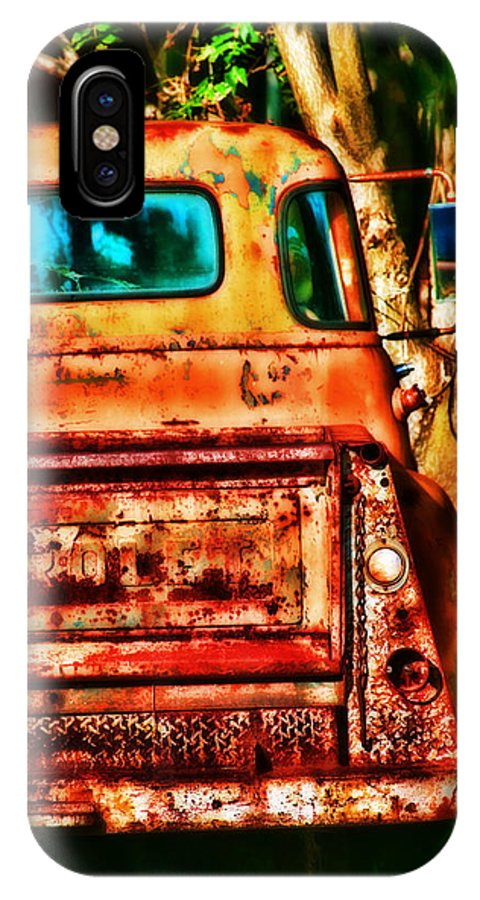Truck IPhone X Case featuring the photograph Sun Kissed Truck by Toni Hopper