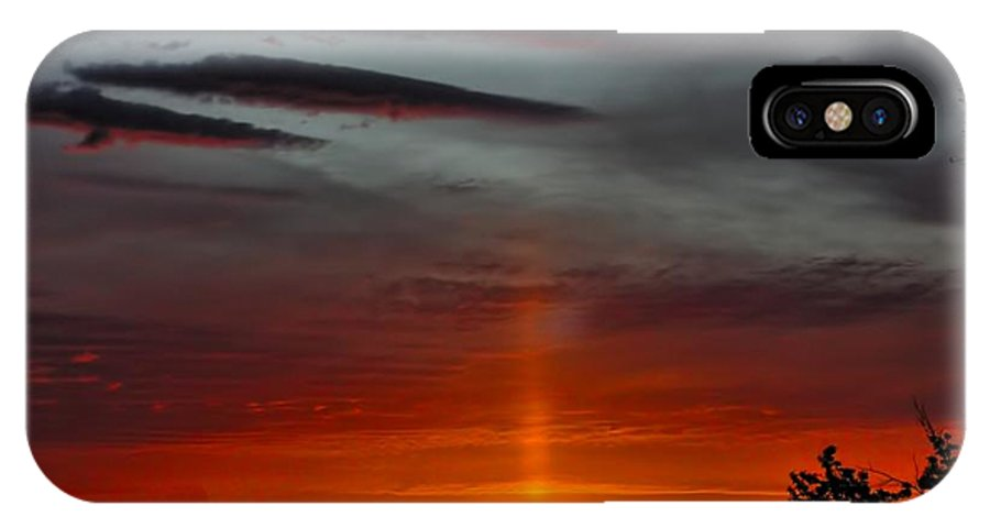 Sunrise IPhone X Case featuring the photograph Sun Pillar In The Morning by Shannon Story