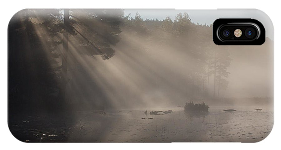 Sun IPhone X Case featuring the photograph Sun Rays At Lowell Lake by Vance Bell