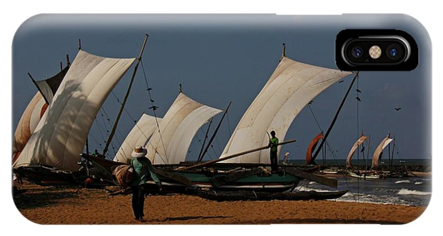 Boats IPhone X Case featuring the photograph Sun Sea Sails And Sand by Ajithaa Edirimane