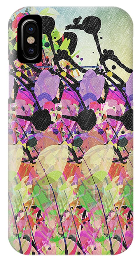 Sun Showers IPhone X Case featuring the digital art Sun Showers On Flowers by Phil Perkins