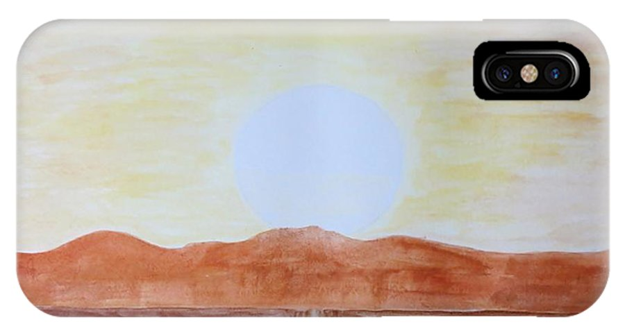 Star IPhone X Case featuring the painting Sun Star by Sonali Gangane
