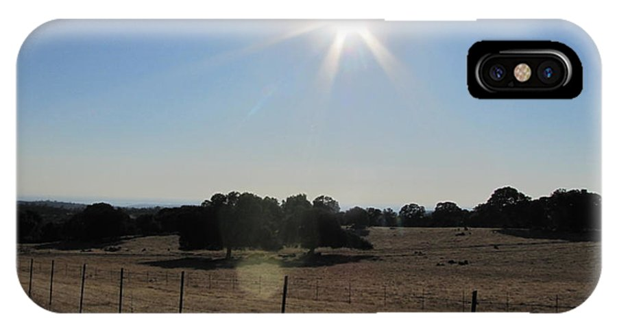 Country Sun Landscape IPhone X Case featuring the photograph Sun Star by Susan Ince