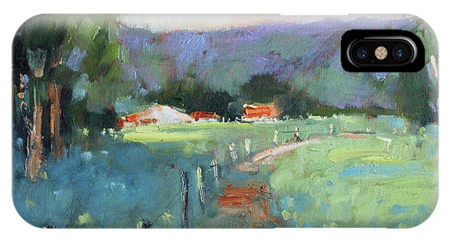 Texas IPhone Case featuring the painting Sun Struck Farm by Joyce Hicks