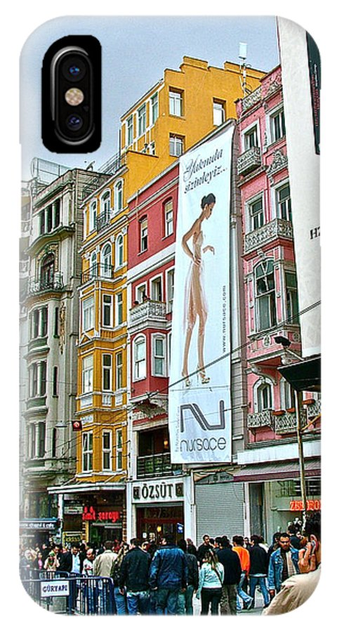 Pedestrian Walkway IPhone X Case featuring the photograph Sunday Afternoon On Pedestrian Walkway In Istanbul-turkey by Ruth Hager