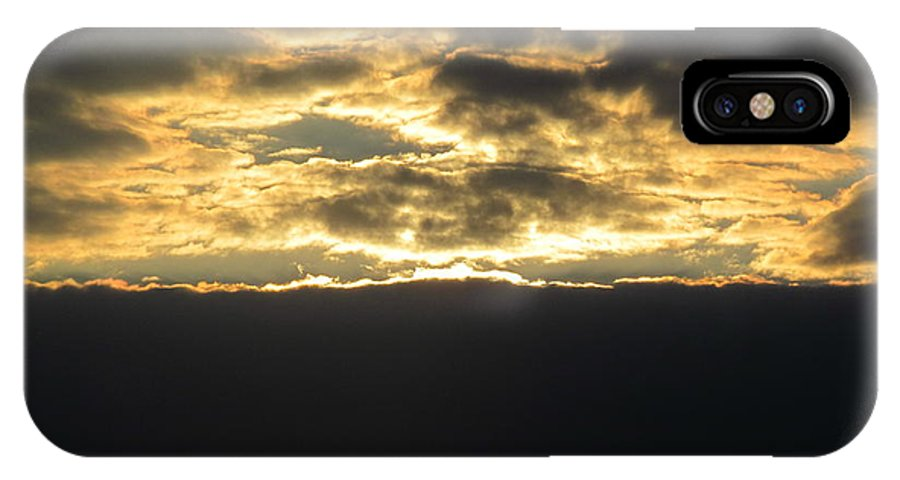 Sun IPhone X Case featuring the photograph Sunday Autumn Sunset Four by Tina M Wenger