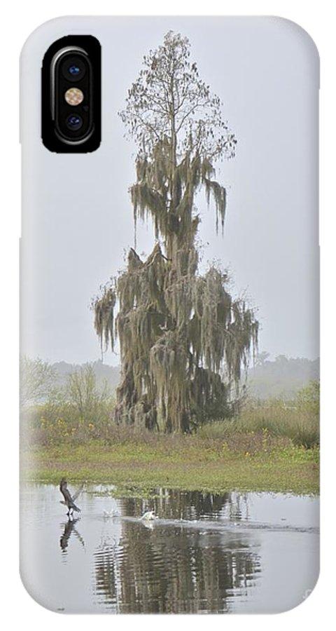 Fog IPhone X Case featuring the photograph Sunday Morning Fog by Carol Bradley