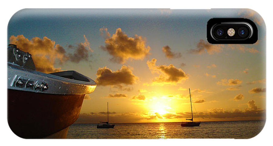 Sunset IPhone X Case featuring the photograph Sundown by Nikki Gray Photography