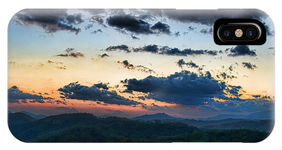 Tennessee IPhone X Case featuring the painting Sundown by Steven Richardson
