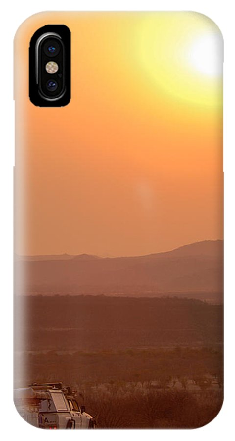 4x4 IPhone X Case featuring the photograph Sundown Stop by Alistair Lyne