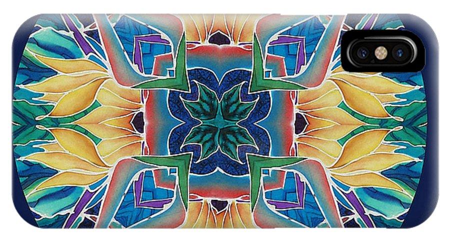 Mandala IPhone X Case featuring the painting Sunflower Mandala by Francine Dufour Jones