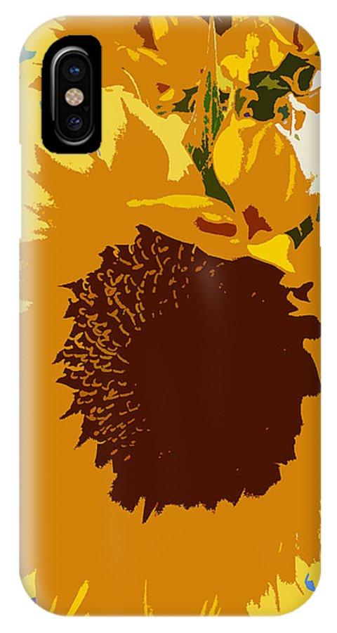 Sunflower IPhone X Case featuring the photograph Sunflower Pop by Colleen Kammerer