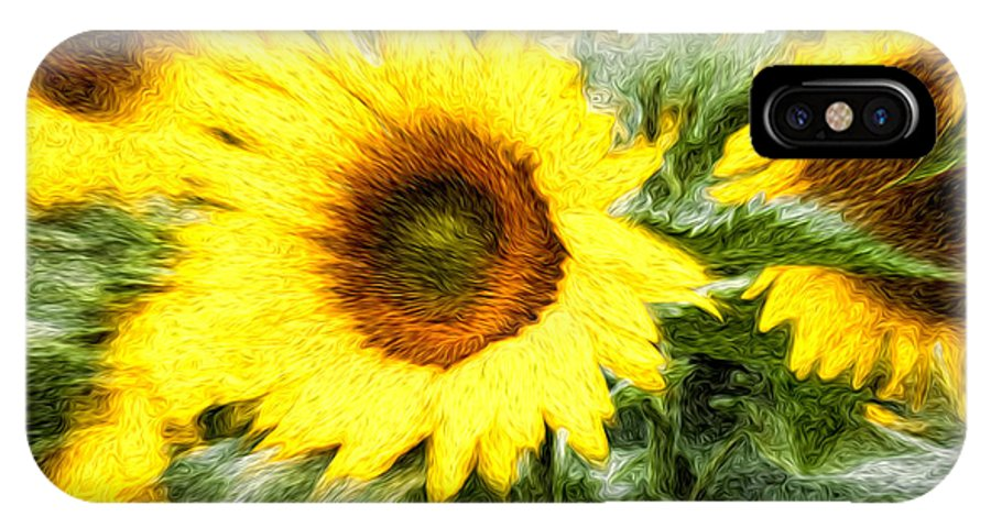 Flowers IPhone X Case featuring the photograph Sunflower Study 3 by Mitchell Brown