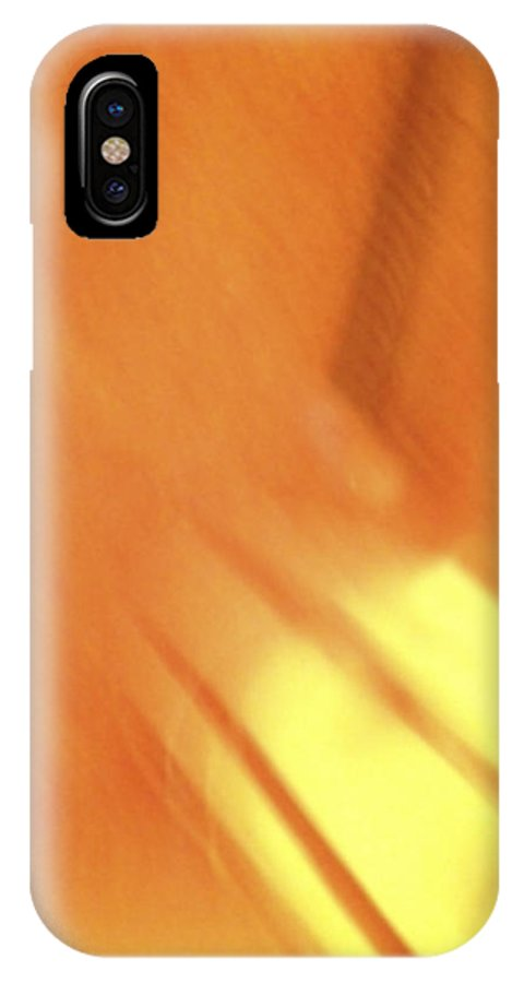 Sunny Abstract Digital Art IPhone X Case featuring the digital art Sunny Abstract Digital Art by Femina Photo Art By Maggie
