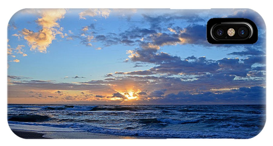 Sunrise IPhone X / XS Case featuring the photograph Sunrays by Amber Ruth