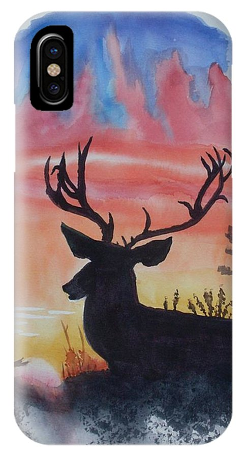 Sunrise IPhone X Case featuring the painting Sunrise Alert by Warren Thompson