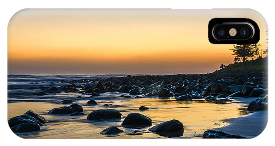 Landscape IPhone X Case featuring the photograph Sunrise At Burleigh by Christina Magri