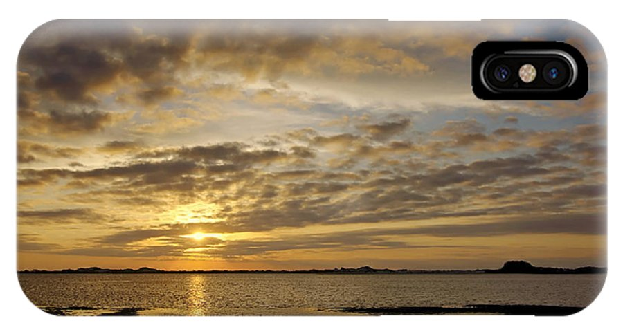 Florida IPhone X Case featuring the photograph Sunrise At Low Tide - Sleepy Cove by Bill Chambers