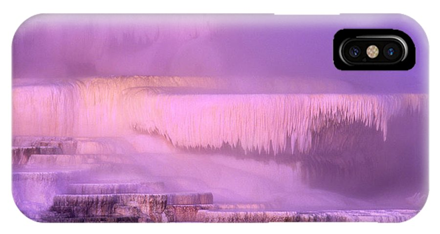 North America IPhone X Case featuring the photograph Sunrise At Minerva Springs Yellowstone National Park by Dave Welling