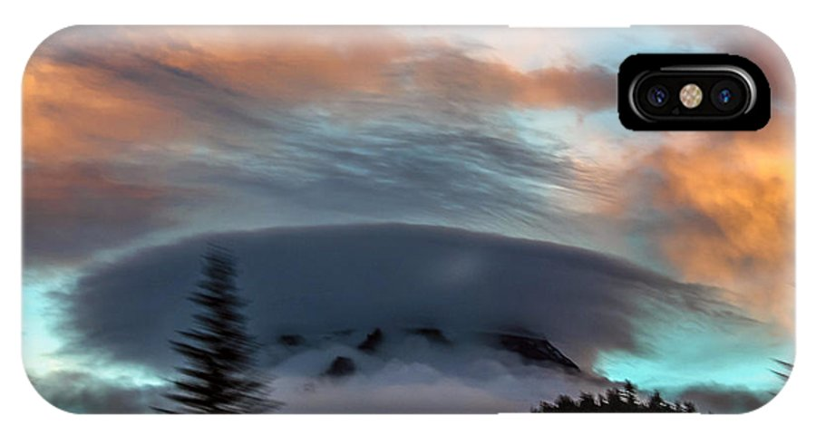 Oregon IPhone X Case featuring the photograph Sunrise At Mount Hood  by Norman Strickland
