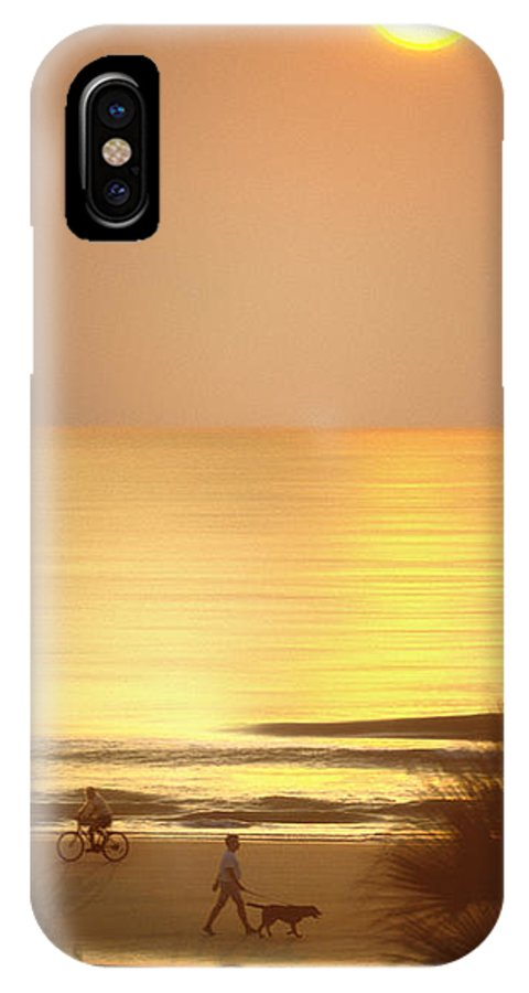 North Carolina Sunrise IPhone X Case featuring the photograph Sunrise At Topsail Island Panoramic by Mike McGlothlen