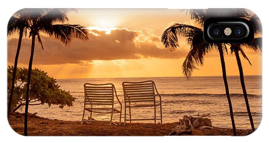 Beach IPhone X Case featuring the photograph Sunrise Beach by Ramona Murdock