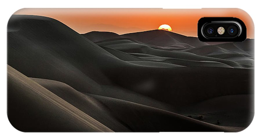 Desert IPhone X Case featuring the photograph Sunrise Behind The Mountains by Babak Mehrafshar (bob)