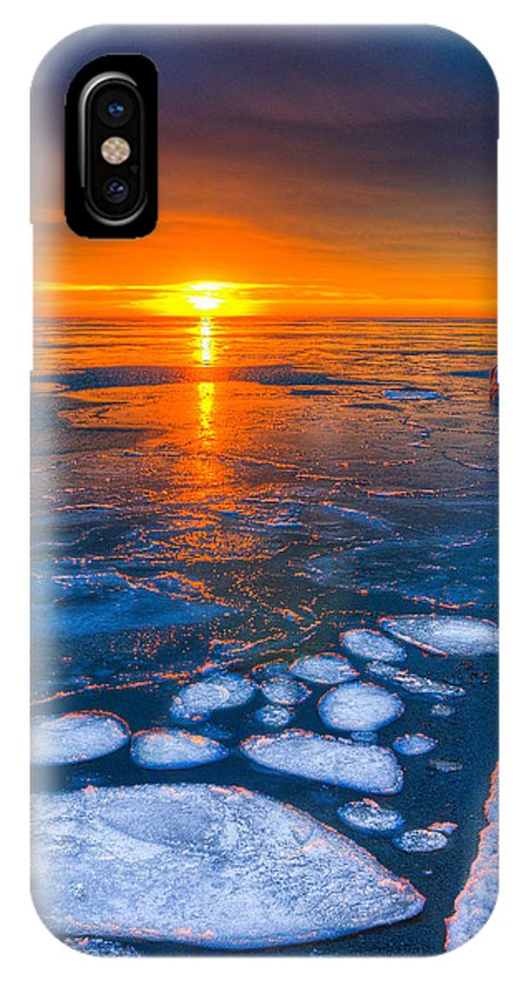 Chicago Sunrise Photography IPhone X Case featuring the photograph Sunrise Chicago Lake Michigan 1-30-14 04 by Michael Bennett